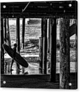 Under The Boardwalk Acrylic Print by Tommy Anderson
