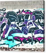 Under The Bridge Graffiti 5 Acrylic Print