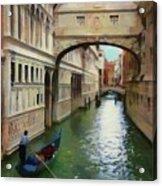 Under The Bridge Of Sighs Acrylic Print