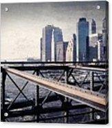 Under The Brooklyn Bridge Acrylic Print
