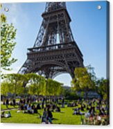 Under The Eiffel Tower, Paris Acrylic Print