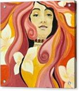 Under The Influence Of Alphonse Mucha Acrylic Print