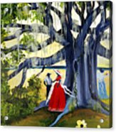 Under The Mossy Oak Acrylic Print