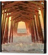 Under The Pier At Dawn Acrylic Print