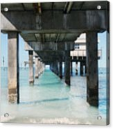 Under The Pier Acrylic Print by Lynn Jackson