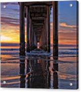 Under The Scripps Pier Acrylic Print
