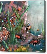 Under The Sea Colors Acrylic Print