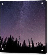 Under The Stars - Barrier Lake Acrylic Print by Adnan Bhatti