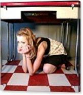 Under The Table Acrylic Print