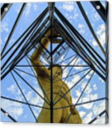 Under The Tulsa Driller - Oklahoma Iconic Statue Acrylic Print