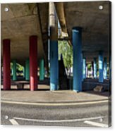 Under The Viaduct A Panoramic Urban View Acrylic Print