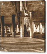 Under The Viaduct B Panoramic Urban View Acrylic Print