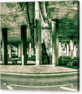 Under The Viaduct C Panoramic Urban View Acrylic Print