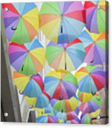Under Umbrellas Acrylic Print