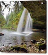 Under Upper Butte Creek Falls In Autumn Acrylic Print