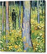 Undergrowth With Two Figures Acrylic Print