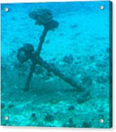 Underwater Anchor Acrylic Print