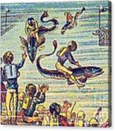 Underwater Race, 1900s French Postcard Acrylic Print