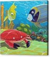 Underwater Sea Friends Acrylic Print
