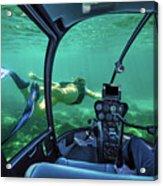 Underwater Submarine Woman Acrylic Print