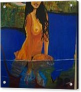 Underwater Woman Acrylic Print