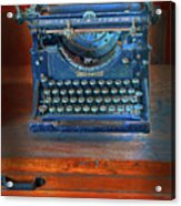 Underwood Typewriter Acrylic Print by Dave Mills