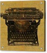 Underwood Typewriter On Text Acrylic Print
