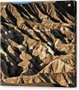 Unearthly World - Death Valley's Badlands Acrylic Print