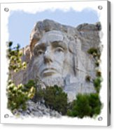 Unfinished Lincoln 3 Acrylic Print