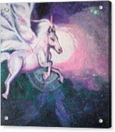 Unicorn And The Universe Acrylic Print