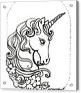 Unicorn Cameo Acrylic Print
