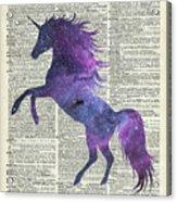 Unicorn In Space Acrylic Print