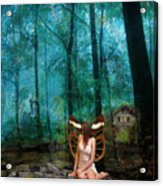 Unicorn In The Forest Acrylic Print by Patricia Ridlon