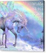 Unicorn Of The Rainbow Card Acrylic Print