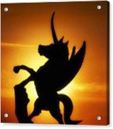 Winged Unicorn Sentinel  Acrylic Print