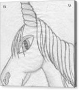 Unicornlove Acrylic Print