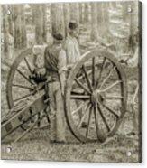 Union Cannon Civil War Sepia Version Acrylic Print