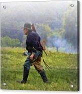 Union Cavalryman On Foot Acrylic Print