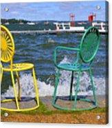 Union Chairs Acrylic Print
