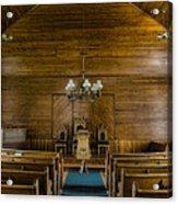Union Christian Church Sanctuary Acrylic Print