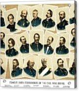 Union Commanders Of The Civil War Acrylic Print