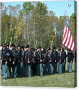Union Infantry March Acrylic Print