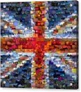 Union Jack Flag Mosaic Acrylic Print