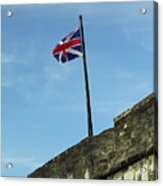 Union Jack Over The Castillo Acrylic Print