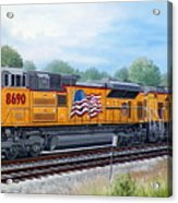 Union Pacific 8690 Acrylic Print by RB McGrath