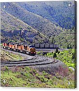 Union Pacific Coal Train In Kyune Utah Acrylic Print