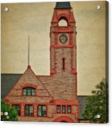Union Pacific Railroad Depot Cheyenne Wyoming 01 Textured Acrylic Print