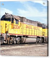 Union Pacific Up - Railimages@aol.com Acrylic Print