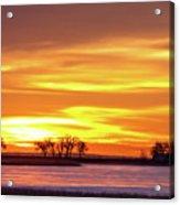 Union Reservoir Sunrise Feb 17 2011 Canvas Print Acrylic Print