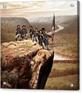 Union Soldiers On Lookout Mountain Acrylic Print